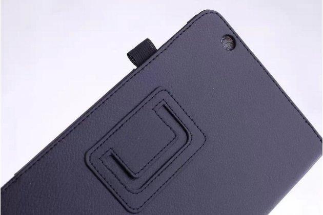 Чехол обложка с подставкой для acer iconia one 8 b1-810/b1-811 черный кожаный