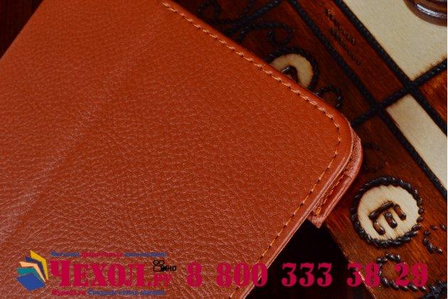 Чехол для acer iconia tab 8 a1-840fhd оранжевый кожаный