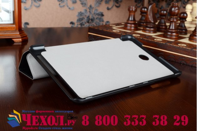 """Умный чехол самый тонкий в мире для acer iconia tab 8 a1-840/a1-841 fhd """"il sottile"""" черный пластиковый"""