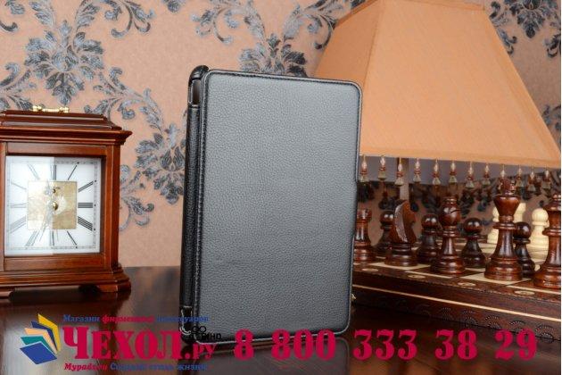 """Чехол для планшета acer iconia tab a1-830/a1-831 с мульти-подставкой и держателем для руки черный кожаный """"deluxe"""" италия"""
