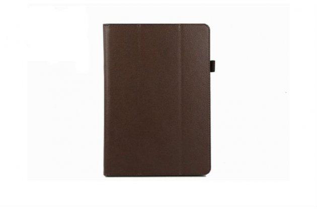 Чехол-книжка для acer iconia tab a3-a10/a3-a11 коричневый кожаный