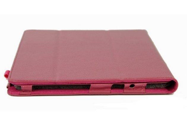 Чехол-книжка для acer iconia tab a3-a10/a3-a11 малиновый кожаный