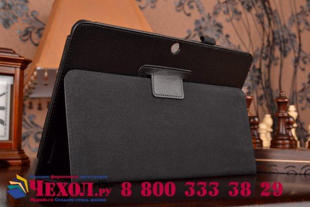 Чехол обложка для acer iconia tab a3-a20/a3-a21 черный кожаный