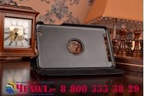 Чехол для планшета acer iconia tab b1-750/b1-751 поворотный роторный оборотный черный кожаный