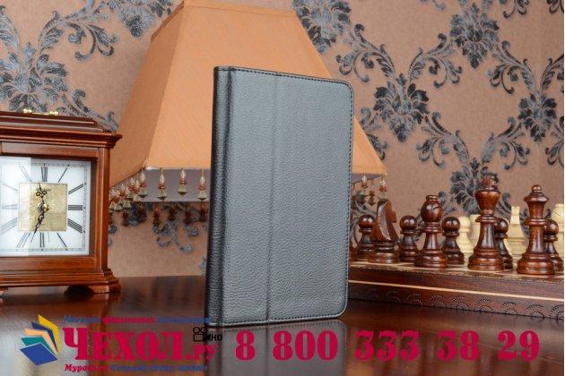 Чехол обложка для acer iconia tab b1-750/b1-751 черный кожаный