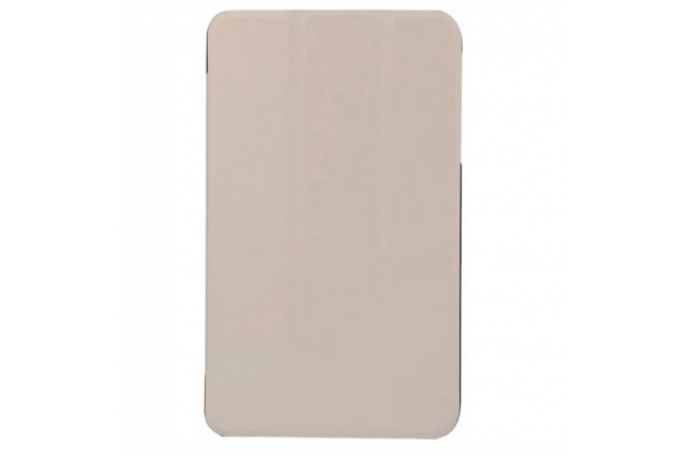 """Умный чехол-книжка самый тонкий в мире для acer iconia tab b1-750/b1-751  """"il sottile"""" белый кожаный"""