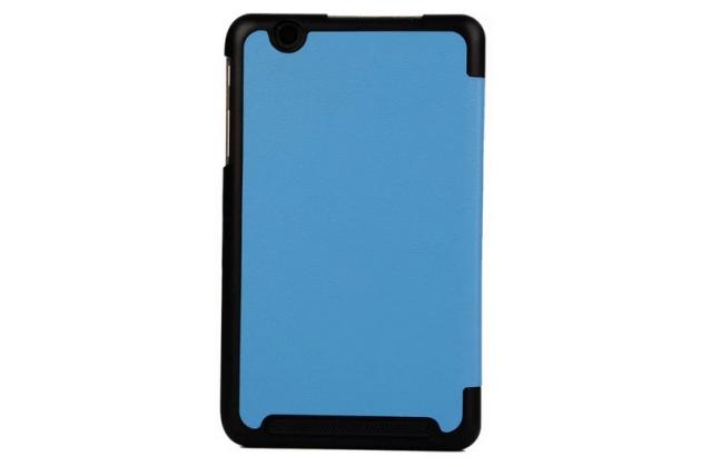 """Умный чехол-книжка самый тонкий в мире для acer iconia tab b1-750/b1-751 """"il sottile"""" голубой кожаный"""
