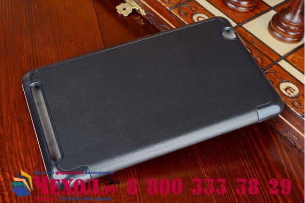 """Умный чехол самый тонкий в мире для планшета acer iconia tab b1-750/b1-751 """"il sottile"""" черный кожаный"""