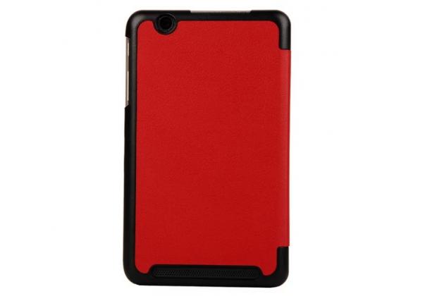"""Умный чехол самый тонкий в мире для планшета acer iconia tab b1-750/b1-751 """"il sottile"""" красный кожаный"""