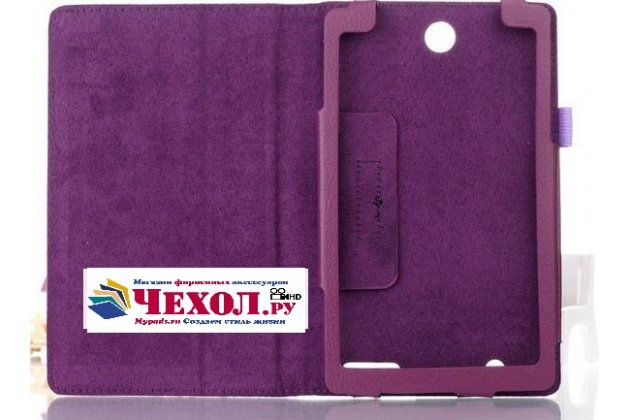 "Чехол-футляр-книжка для acer iconia tab one x 7 b1-740/b1-741 7.0"" фиолетовый кожаный"