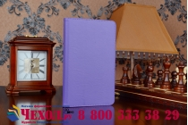 """Чехол бизнес класса для acer iconia tab w1-810 с визитницей и держателем для руки фиолетовый натуральная кожа """"prestige"""" италия"""