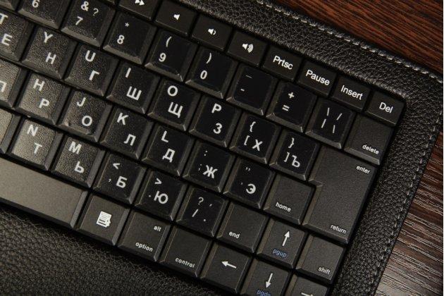 Чехол со съёмной bluetooth-клавиатурой для планшета acer iconia tab w500/w501 черный кожаный + гарантия