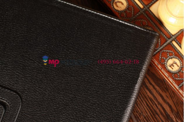 Чехол для acer iconia tab w700/w701 черный кожаный