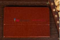 """Чехол-обложка для acer iconia tab w700/w701 коричневый кожаный """"премиум"""""""