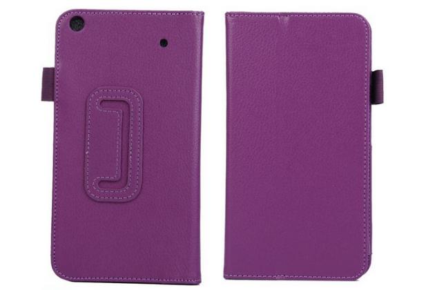 Чехол для acer iconia talk s a1-724 фиолетовый кожаный
