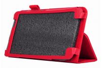 Чехол для Acer Iconia Talk S A1-724 красный кожаный