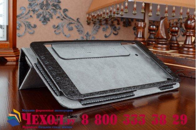 Чехол обложка с подставкой для acer iconia talk s a1-724 черный кожаный