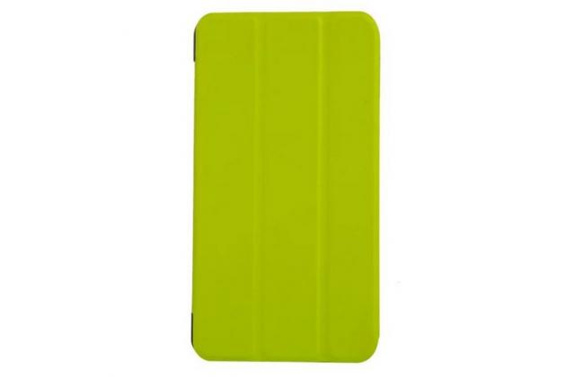 """Умный чехол-книжка самый тонкий в мире для acer iconia talk s a1-724  """"il sottile"""" зеленый кожаный"""