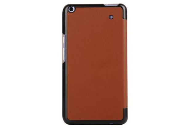 """Умный чехол самый тонкий в мире для планшета acer iconia talk s a1-724 """"il sottile"""" коричневый кожаный"""