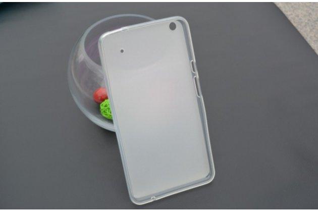 """Ультра-тонкая полимерная из мягкого качественного силикона задняя панель-чехол-накладка для планшета acer iconia talk s a1-724 (nt.l7zee.001 / q6yq) 7.0"""" серая"""