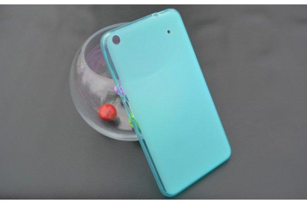 """Ультра-тонкая полимерная из мягкого качественного силикона задняя панель-чехол-накладка для планшета acer iconia talk s a1-724 (nt.l7zee.001 / q6yq) 7.0"""" голубая"""