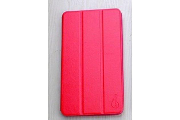 """Умный тонкий легкий чехол для acer iconia one 7 hd b1-760hd (k057 / nt.lb1ee.004) """"il sottile"""" красный пластиковый"""