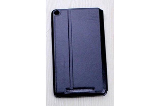 """Умный тонкий легкий чехол для acer iconia one 7 hd b1-760hd (k057 / nt.lb1ee.004) """"il sottile"""" черный пластиковый"""
