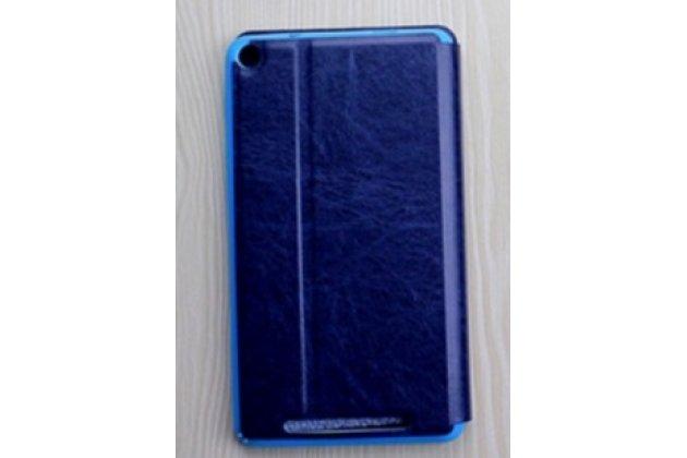 """Умный тонкий легкий чехол для acer iconia one 7 hd b1-760hd (k057 / nt.lb1ee.004) """"il sottile"""" синий пластиковый"""