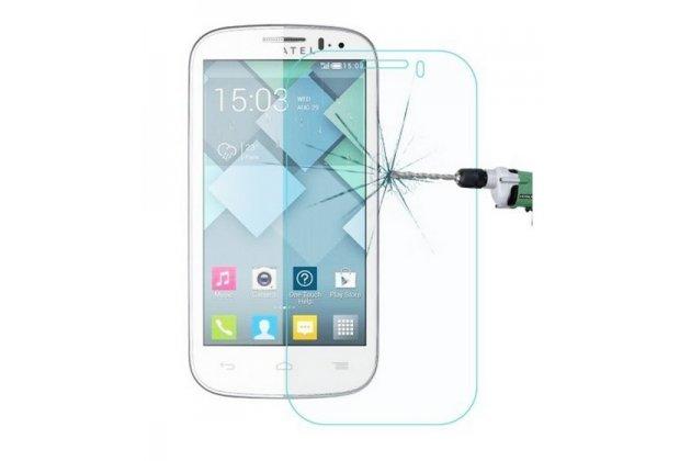 Защитное закалённое противоударное стекло премиум-класса из качественного японского материала с олеофобным покрытием для alcatel onetouch pop c5 5036d/x