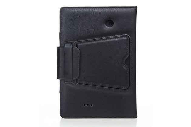 Чехол со съёмной bluetooth-клавиатурой для amazon kindle fire hd 6 черный кожаный + гарантия