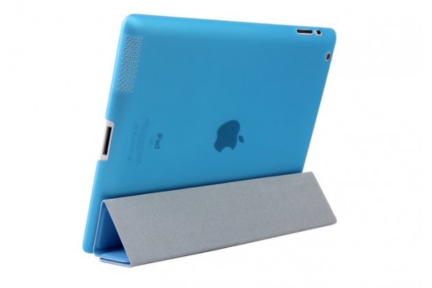 """Умный чехол-книжка самый тонкий в мире для ipad pro 12.9""""  """"il sottile"""" голубой кожаный"""