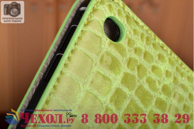 """Чехол для ipad pro 12.9"""" лаковая кожа крокодила зелёный"""