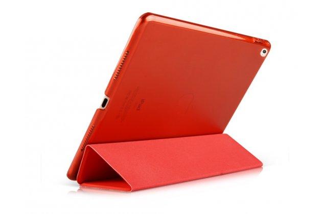 """Умный чехол самый тонкий в мире для планшета ipad pro 12.9"""" """"il sottile"""" красный кожаный"""