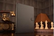 Чехол-книжка из качественной импортной кожи с подставкой застёжкой и визитницей для айпад аир 1 черный