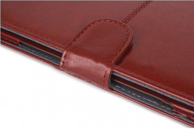 Премиальный чехол-обложка-футляр-сумка с подставкой и вырезом под тачпад для apple macbook air 11 early 2015 (mjvm2/ mjvp2) 11.6 из из импортной кожи розовый