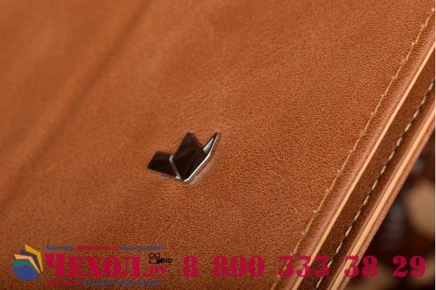 Премиальный чехол-обложка  с подставкой для apple macbook pro 13 mid 2012 ( md101 / md102) 13.3 из натуральной кожи коричневый