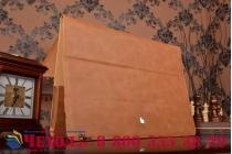 """Премиальный чехол-обложка  с подставкой для apple macbook pro 13 with retina display mid 2014 (mgx92  / mgx72  / mgx82 ) 13.3"""" из натуральной кожи коричневый"""