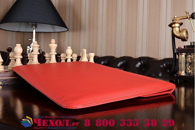 Чехол-клатч-сумка с визитницей для ipad pro 12.9 из качественной импортной кожи красный