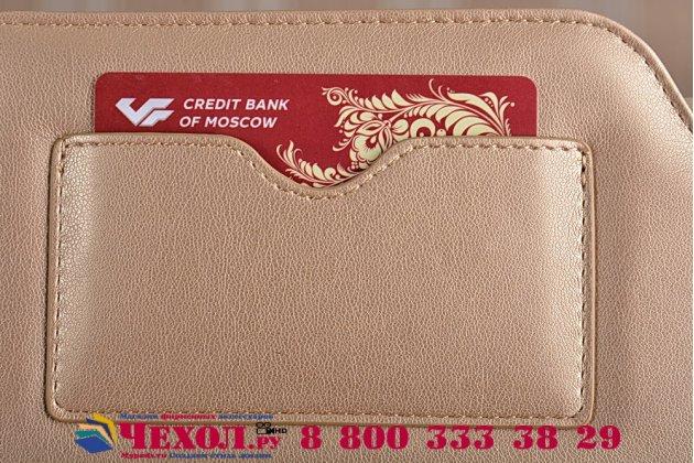 Чехол-клатч-сумка с визитницей для ipad pro 12.9 из качественной импортной кожи золотой