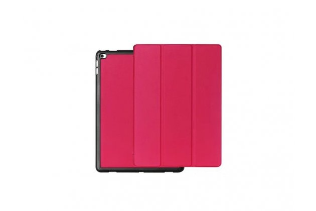 """Умный чехол самый тонкий в мире для планшета ipad pro 12.9"""" """"il sottile"""" розовый кожаный"""
