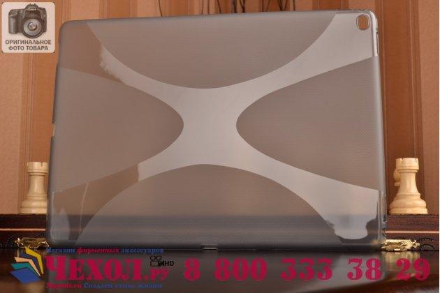 """Ультра-тонкая полимерная из мягкого качественного силикона задняя панель-чехол-накладка для ipad pro 12.9"""" черная"""