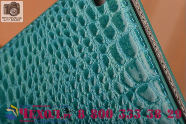 """Чехол для ipad pro 12.9"""" лаковая кожа крокодила бирюзовый"""
