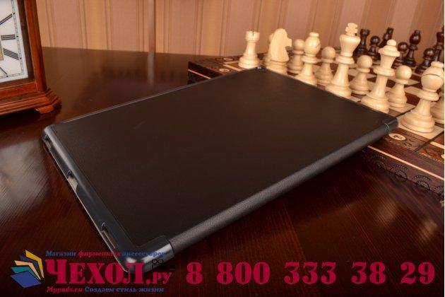 """Умный чехол самый тонкий в мире для планшета ipad pro 12.9"""" """"il sottile"""" черный кожаный"""