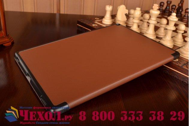 """Умный чехол самый тонкий в мире для планшета ipad pro 12.9"""" """"il sottile"""" коричневый кожаный"""