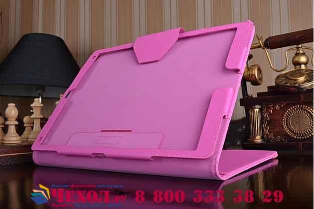 """Чехол бизнес класса для  ipad pro 12.9"""" с визитницей и держателем для руки розовый """"prestige"""" италия"""