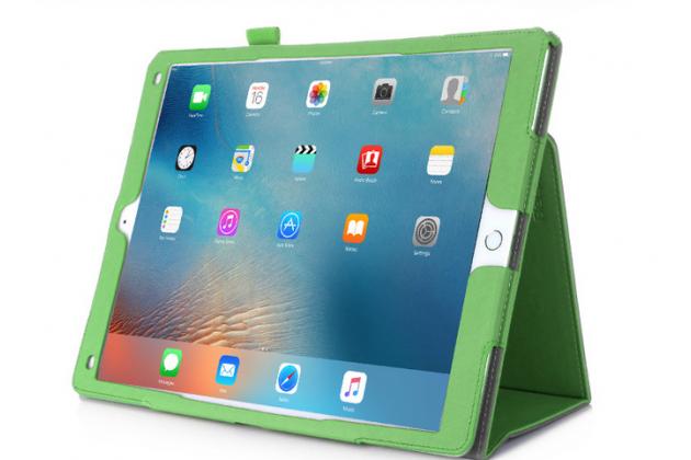 """Чехол бизнес класса для  ipad pro 12.9"""" с визитницей и держателем для руки зелёный """"prestige"""" италия"""