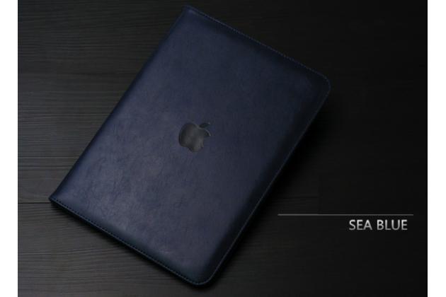 """Чехол бизнес класса для  ipad pro 12.9"""" с визитницей и держателем для руки черный натуральная кожа """"prestige"""" италия"""