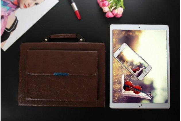 """Чехол с отделением под клавиатуру для ipad pro 12.9 из качественной импортной кожи тематика """"ретро"""" коричневый"""