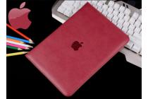 Премиальный чехол бизнес класса для ipad2/3/4 с визитницей из качественной импортной кожи малиновый