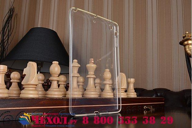 Ультра-тонкая полимерная из мягкого качественного силикона задняя панель-чехол-накладка для ipad mini 1/2/3 прозрачная